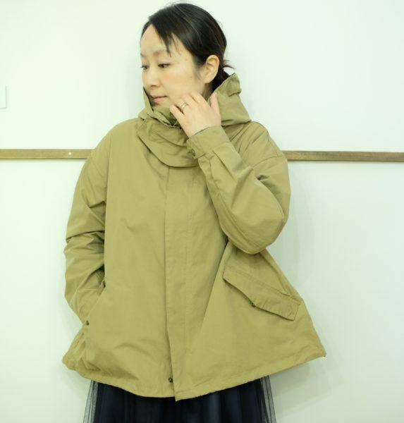 Le Melange  ウェザークロスのフードジャケット