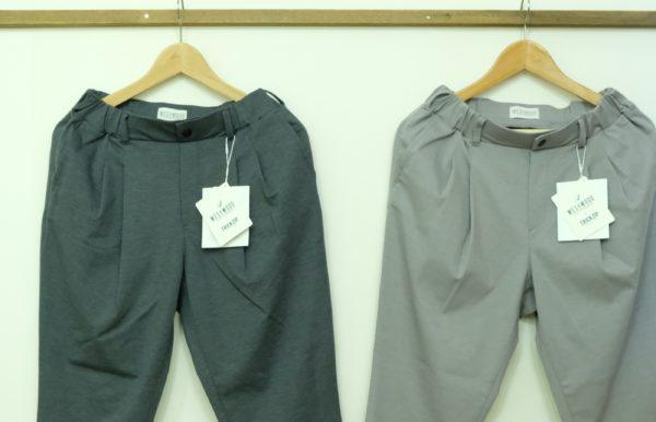 Westwood Outfitters TRICKZIP スーツ地見えタックテーパードパンツ