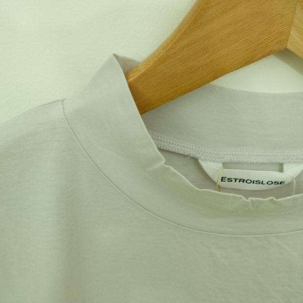 ESTROISLOSE プレミアム天竺のハイネック長袖Tシャツ
