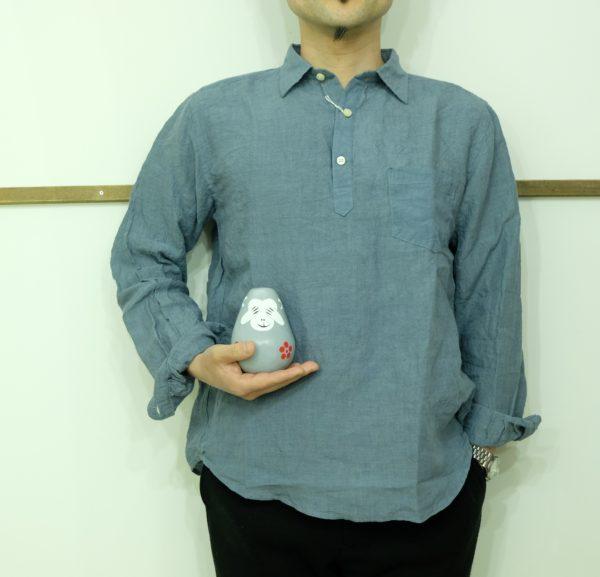 spinner bait グランジウォッシュのリネンシャツ