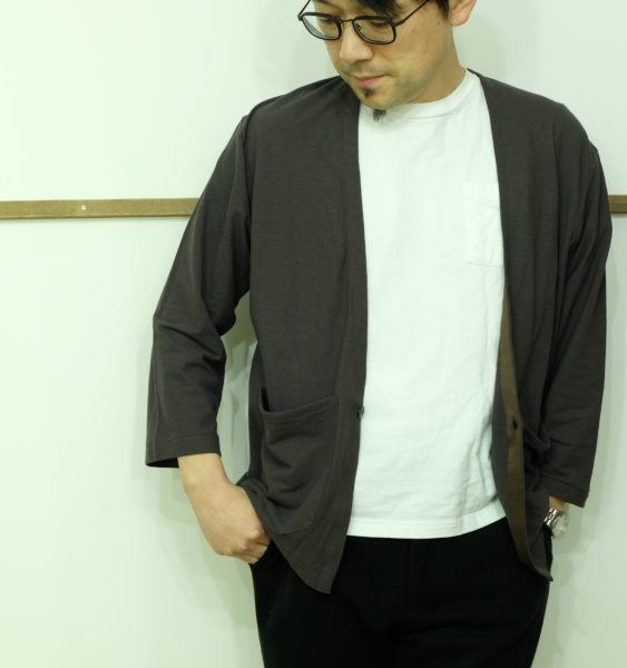 LA MOND 7分袖のノーカラージャケット