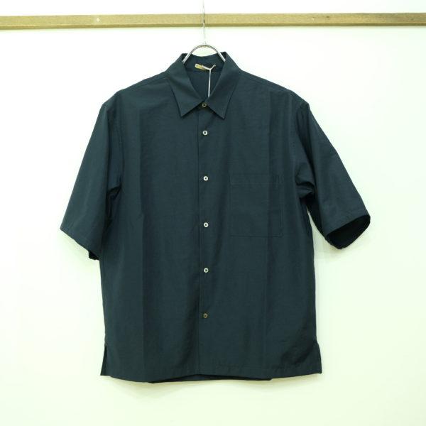 LA MOND 5分袖のワイドシャツ