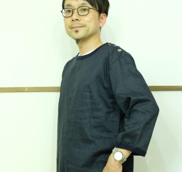 Remadeintokyojapan. リネンキャンバスのバスクシャツ