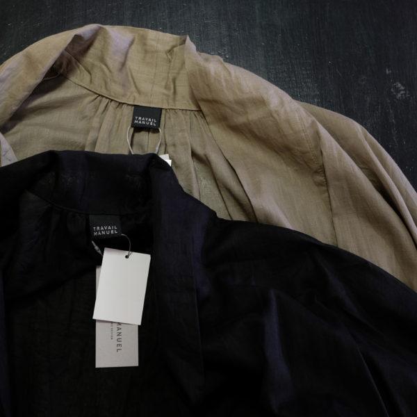 TRAVAIL MANUEL トラバイユマニュアル 綿麻のライトローブ