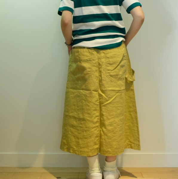 快晴堂 カラーリネンのペインタースカート