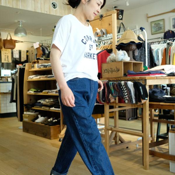 TRAVAIL MANUEL トラバイユマニュアル 綿麻セルビッジデニムのルーズ5ポケットパンツ