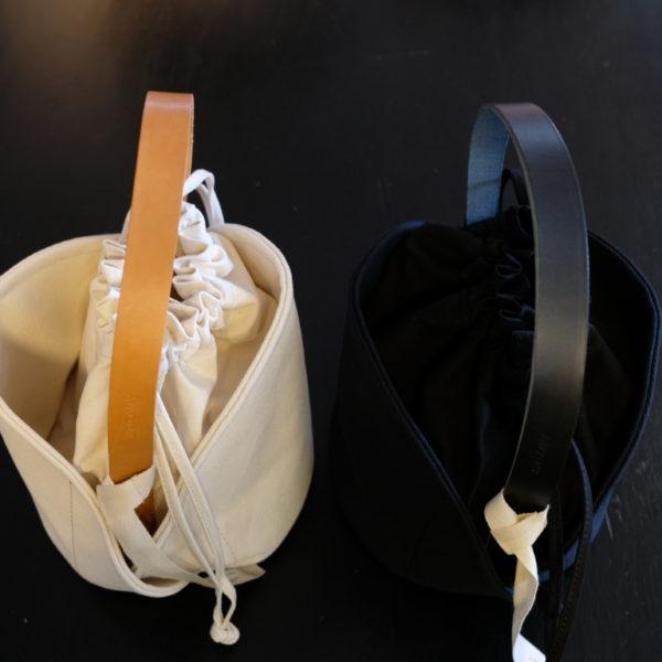 ANVOCOEUR 4号帆布とヌメ革の巾着型ボストンバック
