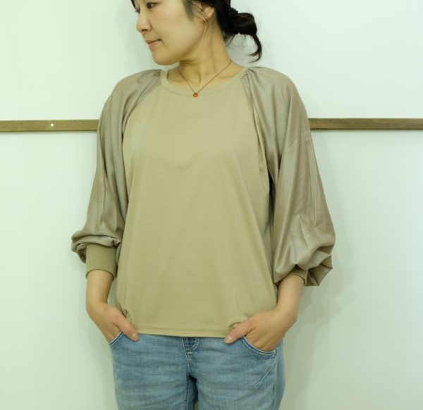 MONILE 切替えのロングTシャツ