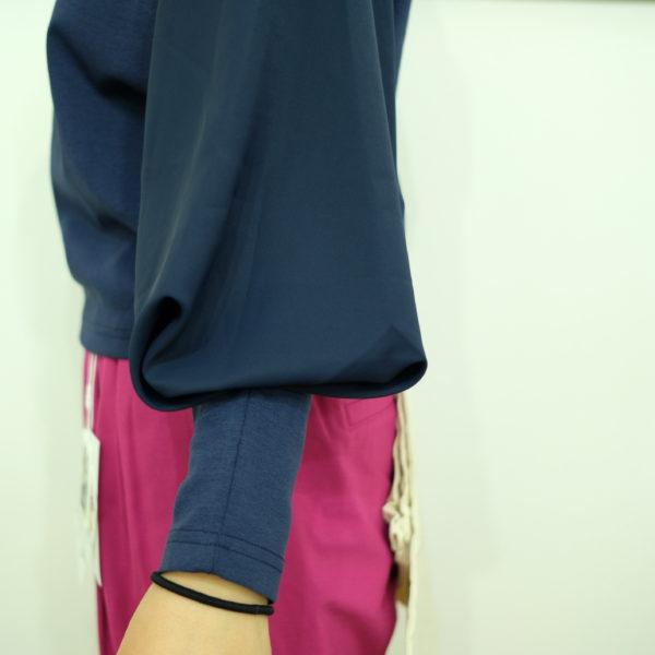MONILE ジョーゼットのボリューム袖ロングTシャツ