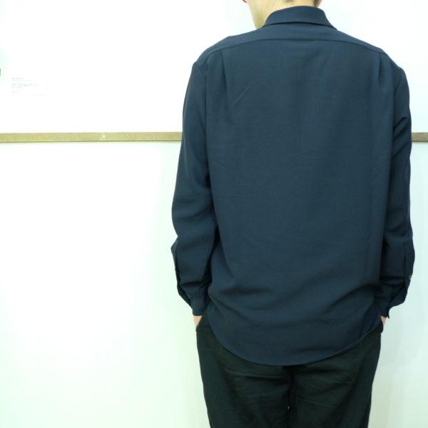 LA MOND ウールライクなオックスシャツ
