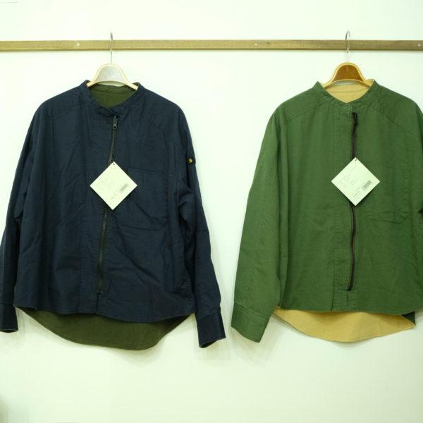 ブランバスク ツイルとフリースのミリタリージャケット