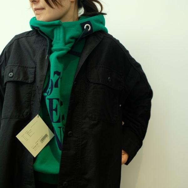 ブランバスク ムラ糸モールスキンのロングシャツ