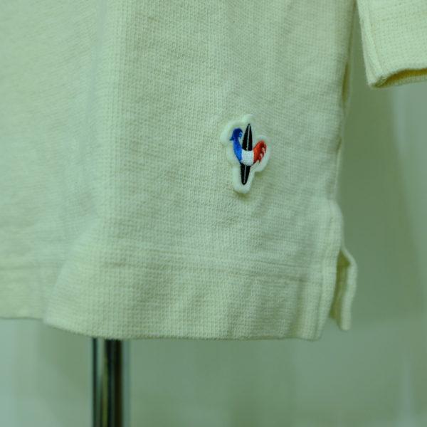 Arvor Maree ミックスサーフニットのラグランボタンTシャツ