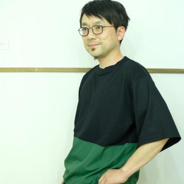 男のKELEN バイカラーの切り替え半袖シャツ