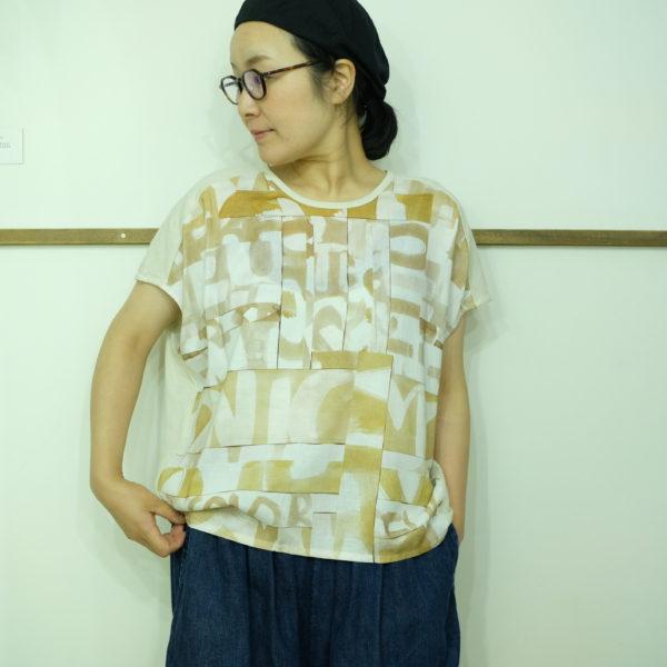 isato design works 水玉オパールスリーブのカットソー