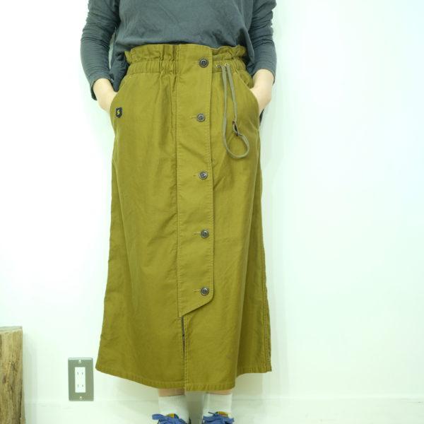 blanc basque モールスキンのミリタリースカート