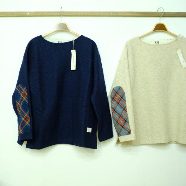 快晴堂 リングウールのエルボーTシャツ