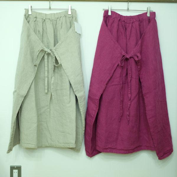 tumugu ソリトリネンのマルチWAYスカート