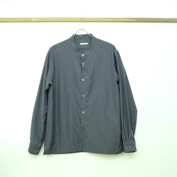 LA MOND 吸水速乾のバンドカラーシャツ