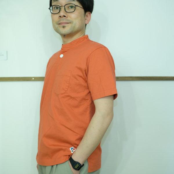 ARVOR MAREE ライトジャージのスタンドカラーポロシャツ