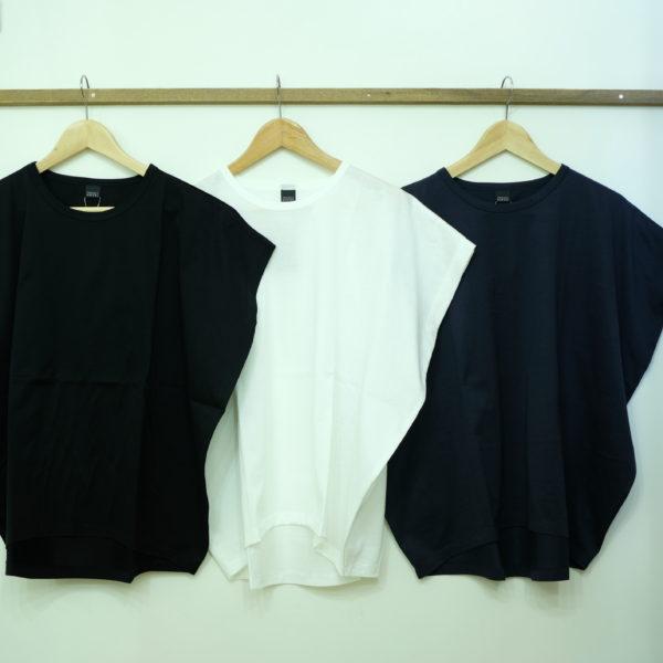 travail manuel シルケット天竺のバルーンTシャツ