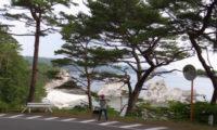 朝の浄土ヶ浜。EASTPAKで出かけよう!