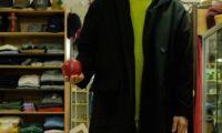 寒さにタックル!ESTROISLOSE フェイクメルトンのフード付きコート!